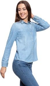 Niebieska koszula Mustang z jeansu