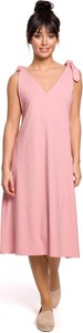 Różowa sukienka Merg midi