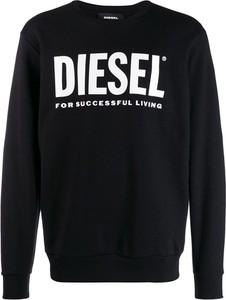Czarny sweter Diesel z wełny w młodzieżowym stylu