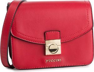 Czerwona torebka PUCCINI na ramię matowa