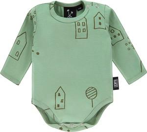 Zielone body niemowlęce Luckyu z bawełny