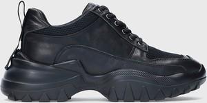 Buty sportowe Kazar Studio sznurowane na platformie ze skóry