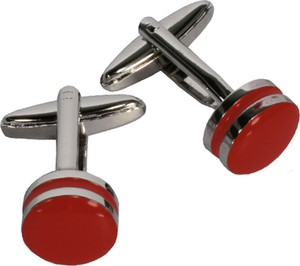 Lavard Czerwone okrągłe spinki do mankietów 57389