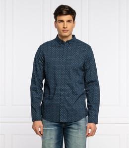 Koszula Armani Exchange z kołnierzykiem button down z długim rękawem w stylu casual