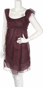 Sukienka Elie Tahari z okrągłym dekoltem prosta