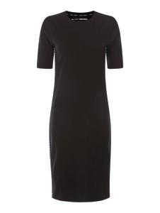 Sukienka DKNY midi z krótkim rękawem z bawełny
