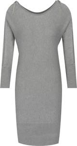 Sukienka Guess Jeans z okrągłym dekoltem z długim rękawem mini