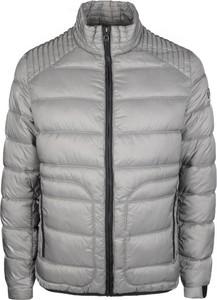 Srebrna kurtka ubierzsie.com w stylu casual z tkaniny