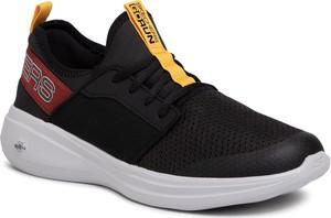 Czarne buty sportowe Skechers ze skóry ekologicznej sznurowane