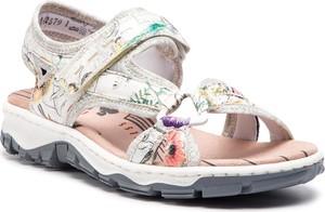 Sandały Rieker w stylu casual na rzepy ze skóry ekologicznej