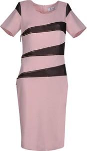 Sukienka Fokus z okrągłym dekoltem ołówkowa z dzianiny
