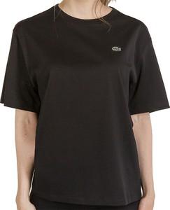 Bluzka Lacoste z krótkim rękawem z bawełny z okrągłym dekoltem