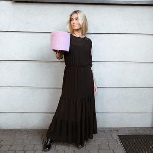 Czarna sukienka Papaya Atelier maxi
