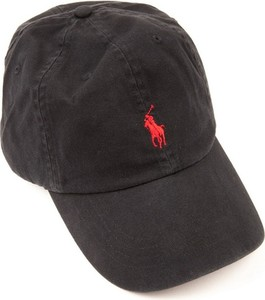 Czarna czapka Ralph Lauren