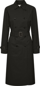 Czarny płaszcz Part Two z wełny