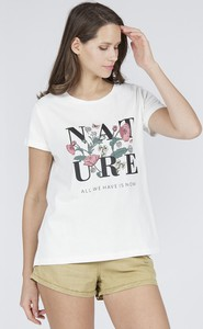 T-shirt Cross Jeans z okrągłym dekoltem w młodzieżowym stylu z krótkim rękawem