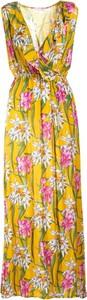 Sukienka Multu z dekoltem w kształcie litery v bez rękawów dla puszystych