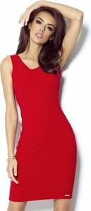 Czerwona sukienka Ivon na ramiączkach dopasowana