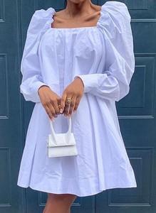 Niebieska sukienka Cikelly w stylu casual z długim rękawem