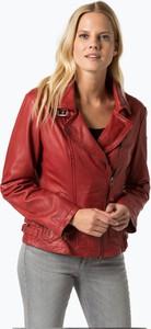 Czerwona kurtka Cabrini ze skóry