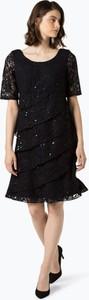 Granatowa sukienka Ambiance w stylu casual