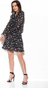 Sukienka Lemoniade mini z żabotem z długim rękawem