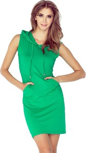 Zielona sukienka MORIMIA bez rękawów mini z dekoltem w kształcie litery v