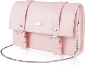 Różowa torebka Kemer w stylu glamour mała na ramię