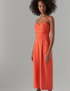 Pomarańczowy kombinezon Mohito z długimi nogawkami