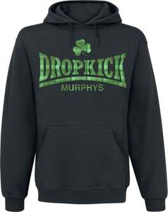 Czarna bluza Dropkick Murphys z bawełny w młodzieżowym stylu