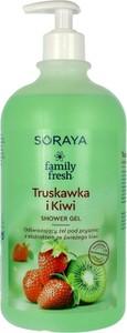 Soraya, Family Fresh, żel pod prysznic odświeżający, Truskawka i Kiwi, 1000 ml