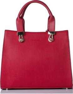 Czerwona torebka Monnari średnia do ręki matowa