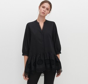 Czarna bluzka Reserved w stylu boho