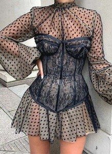 Czarna sukienka Cikelly mini