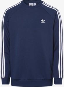 Niebieska bluza Adidas Originals z bawełny