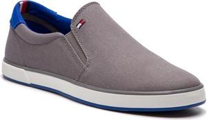 Tenisówki TOMMY HILFIGER - Iconic Slip On Sneaker FM0FM00597 Steel Grey 039