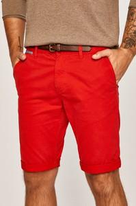 Czerwone spodenki Tom Tailor Denim z bawełny