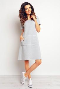 694a77345f sukienki dresowe szare - stylowo i modnie z Allani