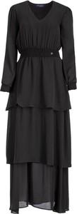 Czarna sukienka Trussardi Jeans z długim rękawem