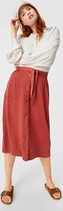Czerwona spódnica The Denim midi