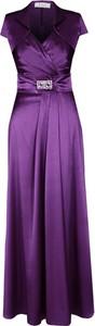 Sukienka Fokus z krótkim rękawem rozkloszowana z bawełny