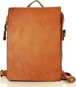 Brązowy plecak Merg ze skóry
