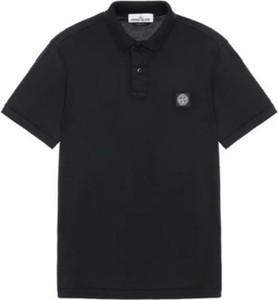 Koszulka polo Stone Island w stylu casual z krótkim rękawem z bawełny
