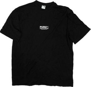 Czarny t-shirt Puma w stylu casual z krótkim rękawem