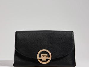 Czarna torebka Mohito mała z aplikacjami zdobiona