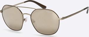 Złote okulary damskie Vogue Eyewear