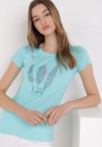 T-shirt born2be z krótkim rękawem z okrągłym dekoltem