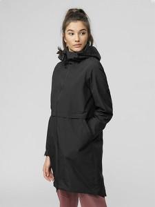 Czarna kurtka 4F długa w sportowym stylu