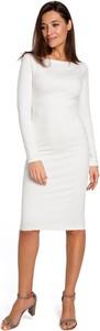 Sukienka Merg ołówkowa z długim rękawem z okrągłym dekoltem