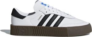 Trampki Adidas w sportowym stylu ze skóry sznurowane